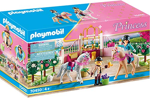 PLAYMOBIL Princess 70450 Reitunterricht im Pferdestall, Ab 4 Jahren