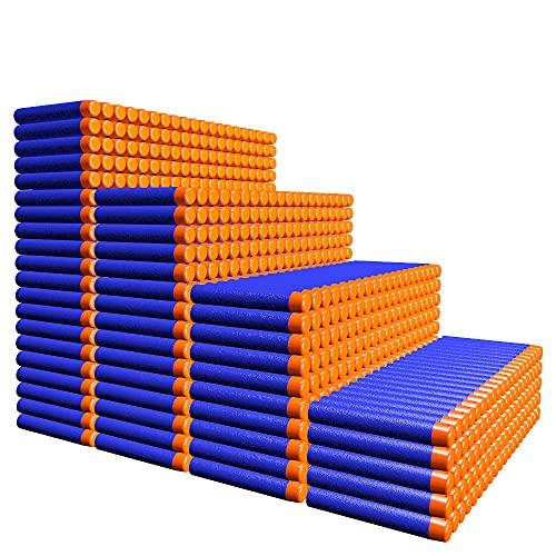 AMOSTING 1000 Stück Pfeile für Nerf, 7,2 cm Blaue Darts Refill...