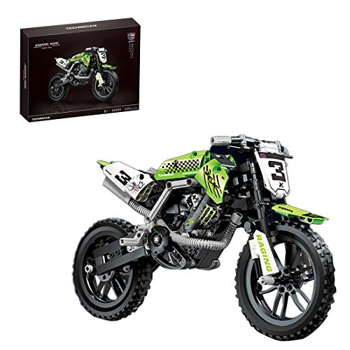 ColiCor Technic Bausteine Off-Road Motorcycle Model, 425pcs Straßenmotorrad für Adventure Motorbike...