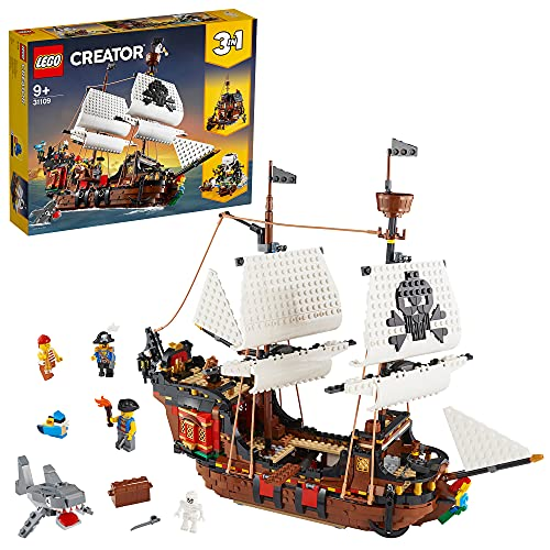 LEGO 31109 Creator 3-in-1 Piratenschiff, Taverne oder Totenkopfinsel...