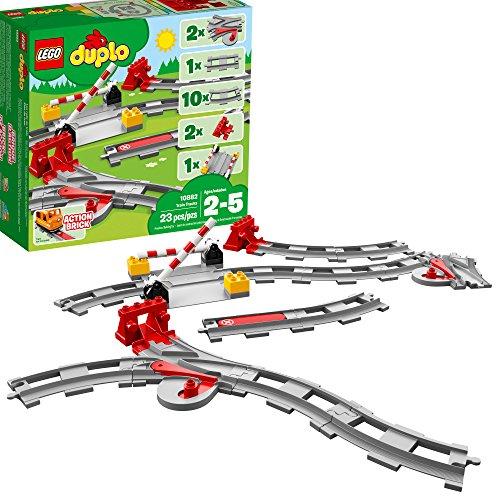 LEGO Duplo 10882 - Eisenbahn Schienen Erweiterungsset (23 Teile) -...