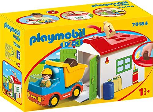 PLAYMOBIL 1.2.3 - 70184 LKW mit Sortiergarage, ab 1,5 Jahren