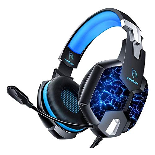YINSAN Headset ps4, PC Gaming Headset Xbox One, Nintendo Switch/Laptop, 3.5mm Noise Cancelling Headset mit...