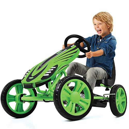 Hauck Toys For Kids GoKart Speedster - Pedal Go-Cart mit Handbremse und verstellbarem Sitz für Kinder ab 4...