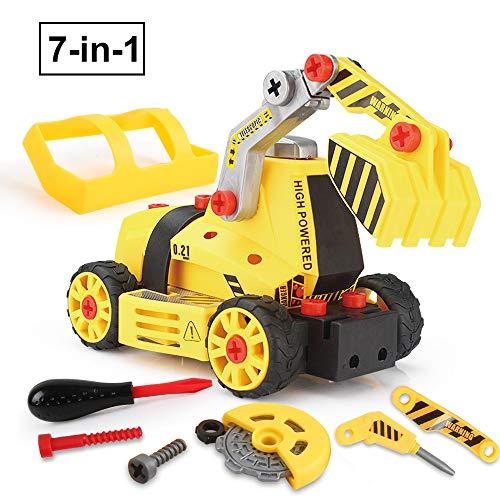 BeebeeRun Montage Spielzeug Auto LKW,Kinder Spielzeug ab 3,Spielzeug 4 Jahre Junge,Lastwagen Autos,7 in 1,65...