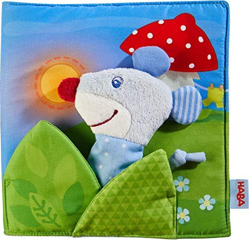 HABA 304211 - Stoffbuch Gute Nacht, viel Erzählspaß für Babys ab 6 Monaten, inklusive Maus als Fingerfigur,...