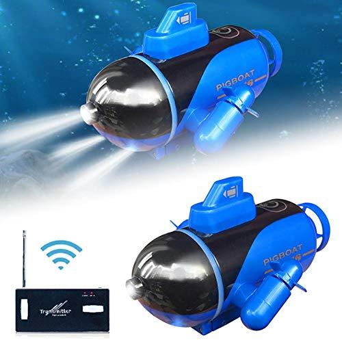 winnerruby Mini Fernbedienung U-Boot Mit Licht, U-Boot Spielzeug RC Boot Elektronisches Wasserdichtes Boot...