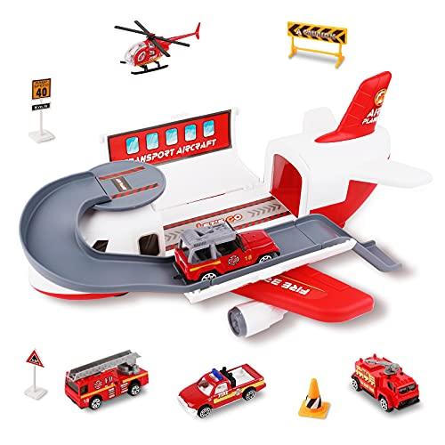 m zimoon Transport Frachtflugzeug Auto Spielzeug Set, Jungen und...