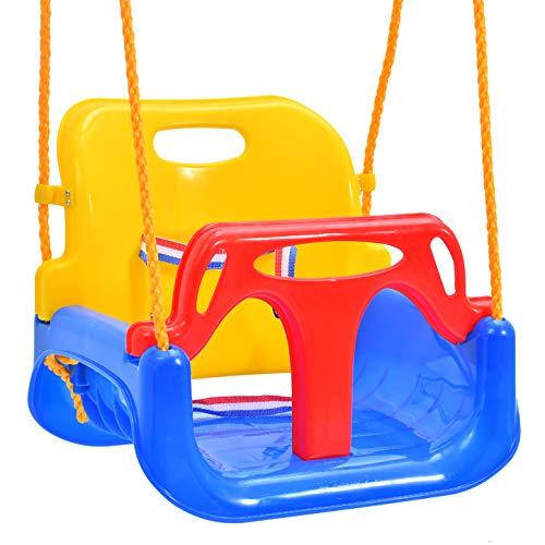Emwel Babyschaukel Outdoor - kinderschaukel 3 in 1 Kinderschaukel Indoor Kinderschaukel für Baby und Kinder...