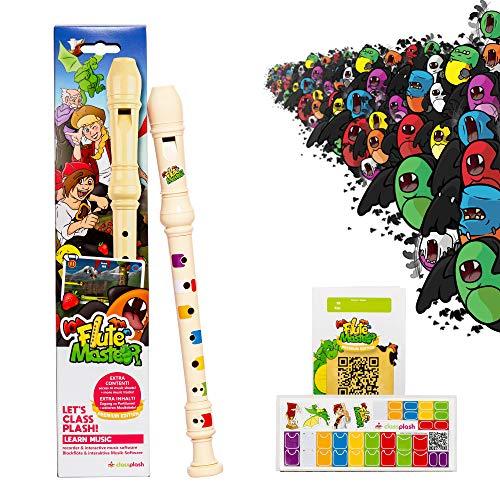 Blockflöte für Kinder – inkl. App'Flute Master' – Flöte spielen...