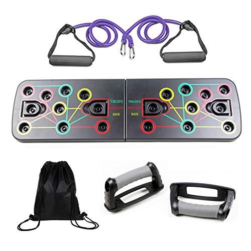 Coriver 13 in 1 Push-Up-Rack-Board mit Fitnessbändern, Tragetasche,...