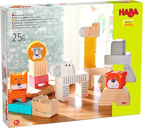 HABA – Spielzeug aus Holz – Bausteine – Die Parade der Tiere –...