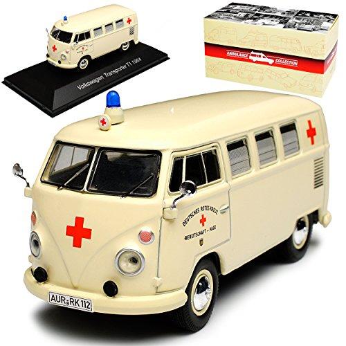 Atlas Volkwagen T1 Beige DRK Krankenwagen Samba Bully Bus 1950-1967...