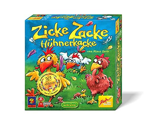 Zoch 601121800 Zicke Zacke Hühnerkacke, Kinderspiel 1998, rasantes...