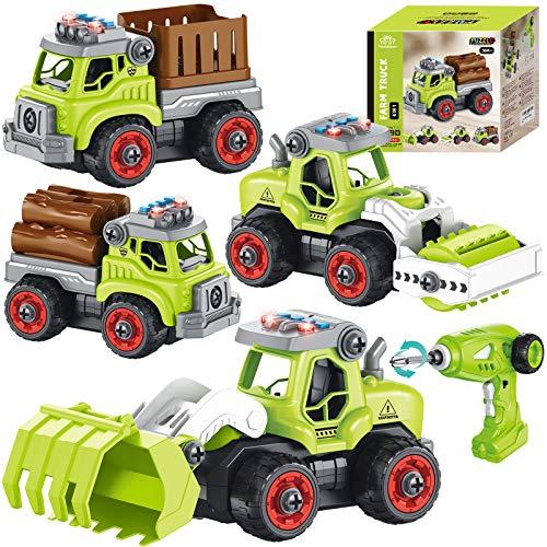 4 in 1 Montage Bauernhof Fahrzeug Kinder ferngesteuert Traktor...