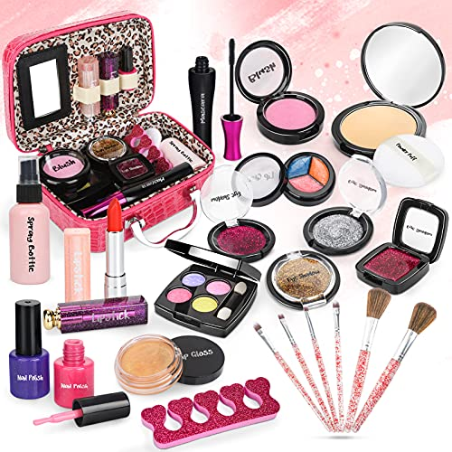 Dreamon Kinderschminke Mädchen, 24PCS Waschbar Makeup Spielzeug mit...