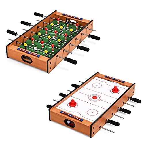 RELAX4LIFE 2 in 1 Multifunktionsspieltisch, Kickertisch & Hockeytisch...