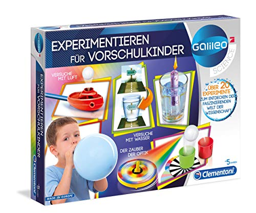 Clementoni 69252 Galileo Science – Experimentieren für Vorschulkinder, 25 spannende Versuche fürs...