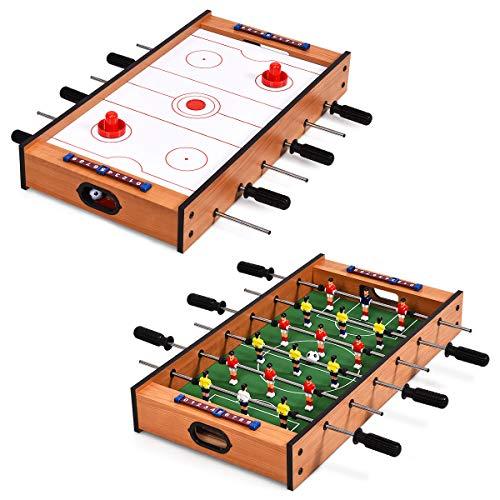 COSTWAY 2 in 1 Spieltisch, Multifunktionsspieltisch aus Holz,...