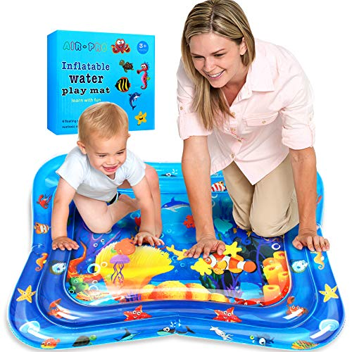 Wasserspielmatte, Swonuk 100*80CM Groß Wassermatte Baby mit beweglichen Schwimmelementen von Spielzeug Das...