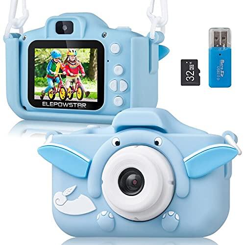 ELEPOWSTAR Kinderkamera, Digitalkamera 2,0 Zoll für Jungen Mädchen...