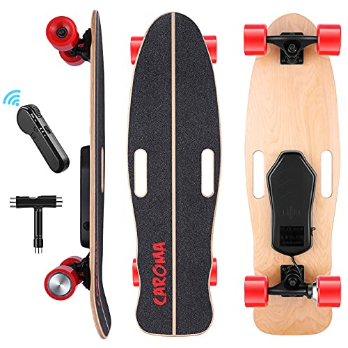 Longboard Elektro Skateboard,82cm Elektrisch Longboard mit Kabelloser...