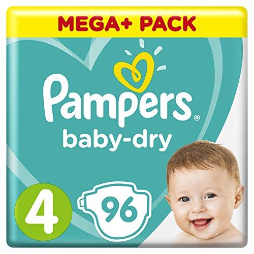 Pampers Baby-Dry Windeln Größe4 (9-14kg),...