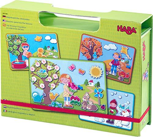 Haba 303386 - Magnetspiel-Box Jahreszeiten