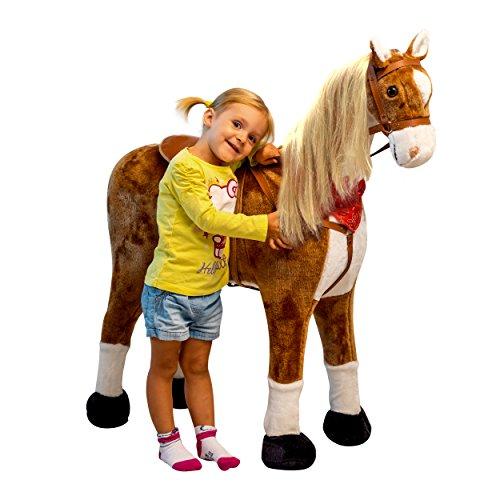 Pink Papaya Plüschpferd XXL 105cm - das riesige Pferd zum Reiten,...
