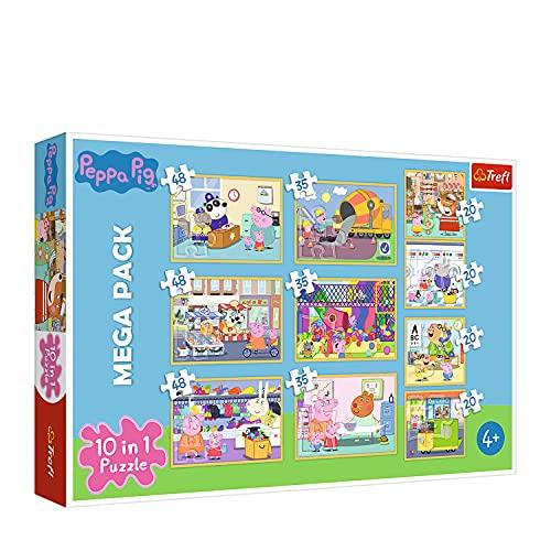 Trefl 90358 Puzzle, Peppa Wutz mit Freunden, von 20 bis 48 Teilen, 10...
