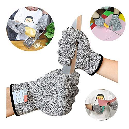 Sinwind Schnitzhandschuhe Kinder, Schnittsichere Handschuhe für Kinder – Leistungsfähiger Level 5 Schutz,...