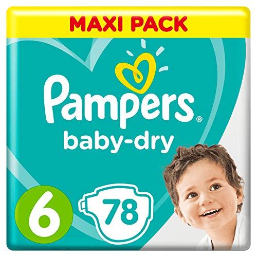 Pampers Baby-Dry Windeln, Gr. 6, 13kg-18kg, Dreier-Pack...
