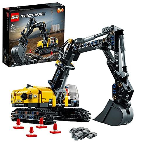 LEGO 42121 Technic Hydraulikbagger Bauset, 2-in-1 Modell, Baufahrzeug,...