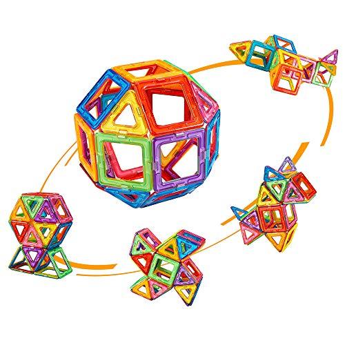 crenova 48P Magnetische Bausteine Regenbogenfarben Bausatz Pädagogischen Magnetischen Fliesen Spielzeug für...