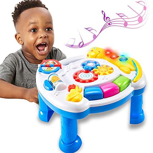 TOEY PLAY Baby Musical Spieltisch Musikspielzeug Lerntisch,...
