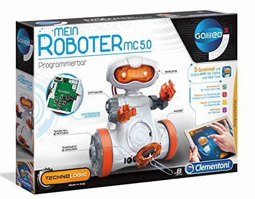 Clementoni 59158 Galileo Science – Mein Roboter MC 5.0, Robotik für kleine Ingenieure, Einstieg in die...