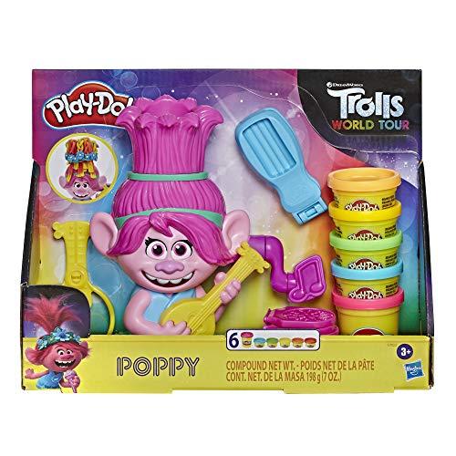 Trolls Play-Doh World Tour Frisierspaß Poppy, Styling-Spielzeug für...
