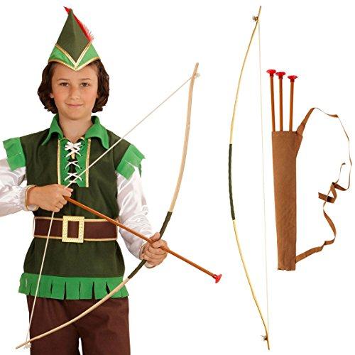 NET TOYS Pfeil und Bogen für Kinder Robin Hood Set Kinderbogen mit...
