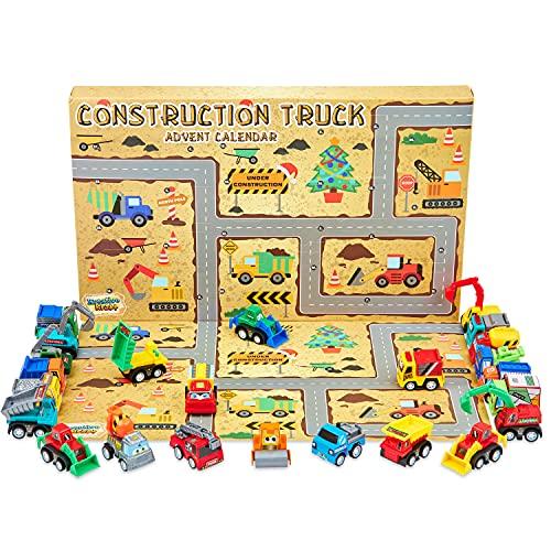 KreativeKraft Adventskalender 2021 Kinder, Spielzeug Baustellen...