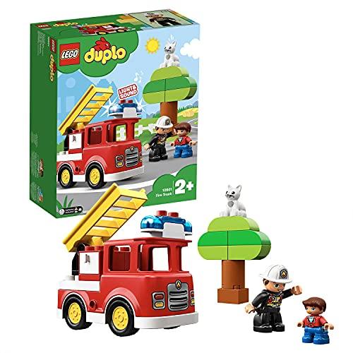 LEGO 10901 DUPLO Feuerwehrauto mit Feuerwehrmann-Figur, Licht &...