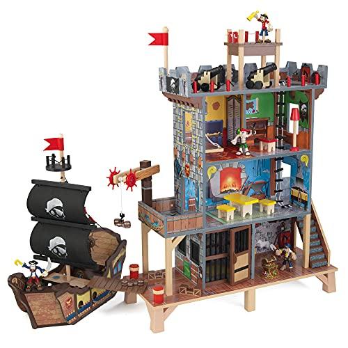 KidKraft 63284 Spielset Pirate's Cove Spieleset aus Holz für Kinder,...