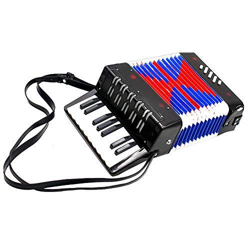 Kinder Akkordeon Instrument Spielzeug, 17-Tasten 8 Bass Mini kleines...