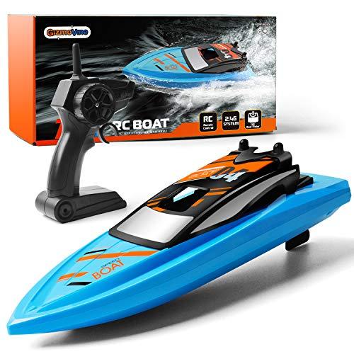 GizmoVine Ferngesteuertes Boot RC Boot 2,4GHz mit 2 Motoren Schnelle Geschwindigkeit Jungen und Mädchen...