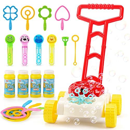 JoyGrow Seifenblasen Rasenmäher für Kinder Automatische Seifenblasen...
