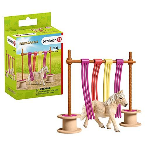 SCHLEICH Farm World Tierfigur Pony mit Flattervorhang 43268112...