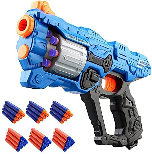 Kinder Pistole für Nerf Gun Pfeilen, Spielzeug Waffe mit 8 Schuss...