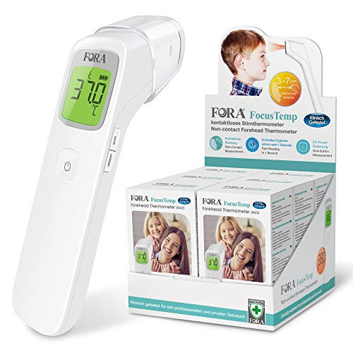 FORA IR42*6 mit Displaybox, Klinisches Infrarot-Stirnthermometer,...