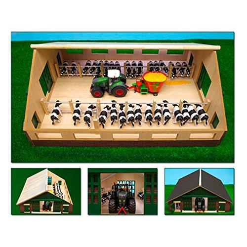 Van Manen 610540 Bauernhof Kuhstall aus Holz, 1:32, passend für Siku...