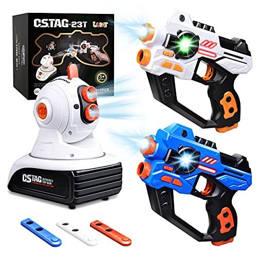 LUKAT Lasertag Spielzeug für Jungen & Mädchen, Infrarot Laserpistole...