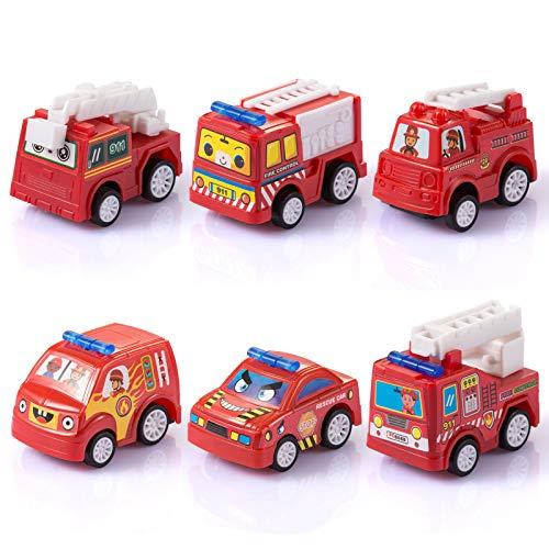 Fontien 6tlg Feuerwehrautos Set Feuerwehr Spielzeugautos Autos...